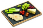 Grunwerg Acacia and Slate Cutting / Serving Board 25cm x 25cm x 1.5cm