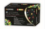 The Christmas Workshop Outdoor Candle Timer Lights 25 LED - Multicoloured