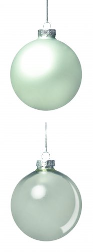 Premier Decorations Glass Bauble 60mm Silver - Assorted