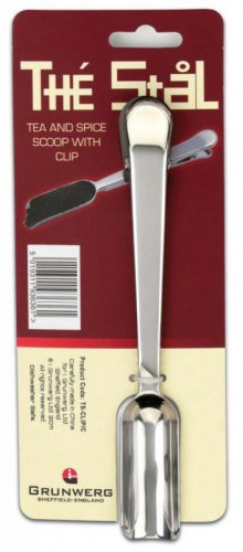 Grunwerg Tea Scoop with Clip 18cm