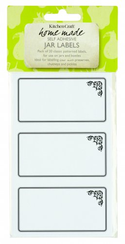 Home Made Self-Adhesive Jam Jar Labels Monochrome (Pack of 20)