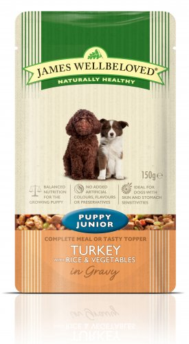 James Wellbeloved Turkey Puppy Pouch 150g