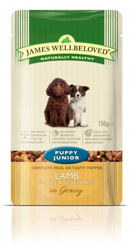 James Wellbeloved Lamb Puppy Food Pouch 150g