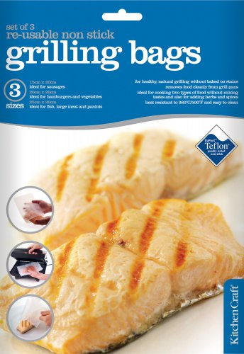 KitchenCraft Set of 3 Reusable Non-Stick Grill Bags