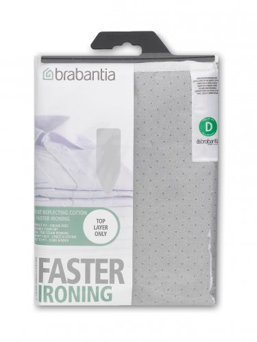 Brabantia Metallized Silver 2mm Foam Cover for D Board 135 x 45cm
