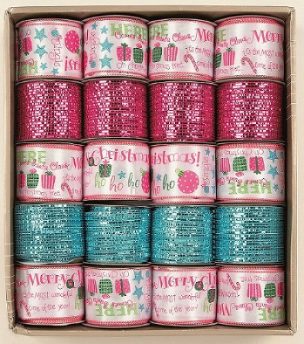 Premier Decorations Luxury Ribbon 6cm x 2.7M Brights Sparkle - Assorted