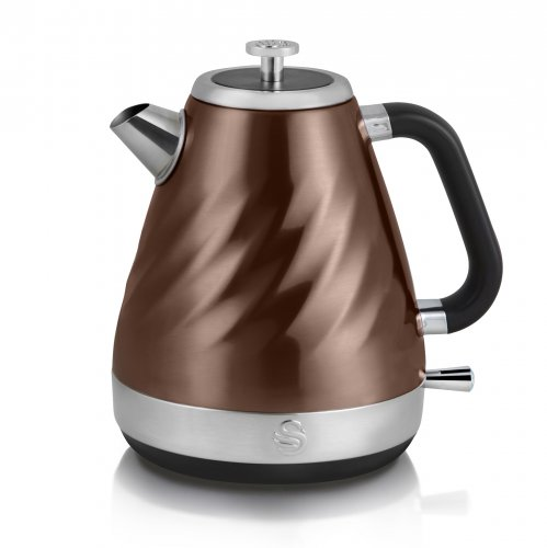 Swan Copper Electric Twist Jug Kettle 1.6L