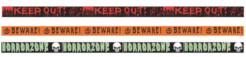 Premier Decorations Halloween 6M PE Fright Tape - Assorted
