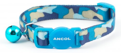 Ancol Camouflage Cat Collar Blue