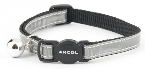 Ancol Gloss Reflective Cat Collar All Silver