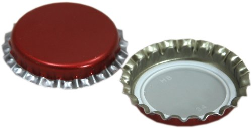 Young's Ubrew Metal Crown Caps (Pack of 50) - Red