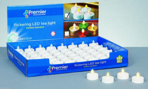 Premier Decorations Battery Operated Flickering LED Tea Light