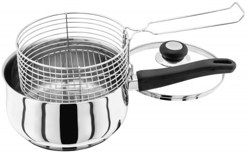 Judge Vista 18/10 Stainless Steel Deep Fryer/Chip Pan 20cm
