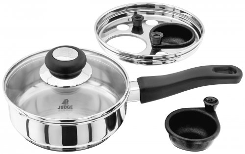Judge Vista 18/10 Stainless Steel Egg Poacher 2 Cup 16cm