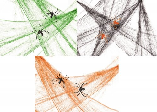 Premier Decorations Halloween Coloured Spider Web with 2 Spiders - Assorted