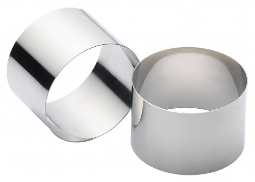 Set of Two Stainless Steel Extra Deep Cooking Rings