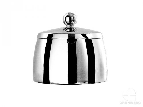 Café Stål Art Deco Mirror Finish 10oz Stainless Steel Sugar Bowl & Lid