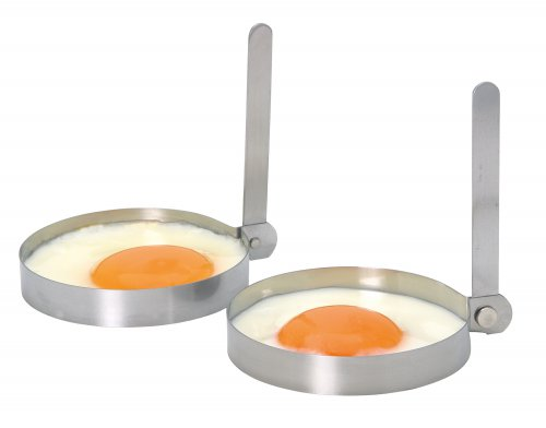 KitchenCraft Stainless Steel  Round Egg Rings, Set of 2