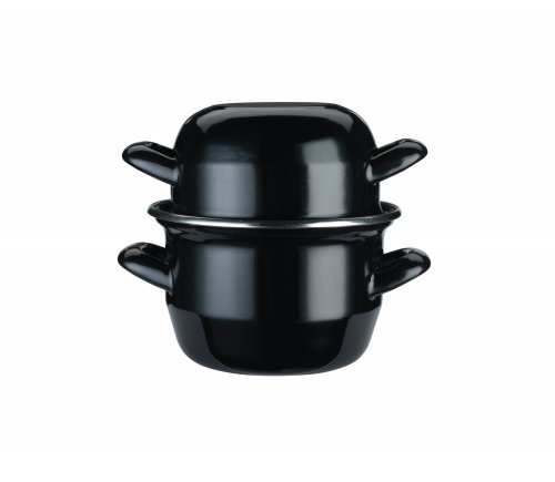 KitchenCraft World of Flavours Enamelled Steel Mussel Pot Small 12cm