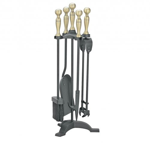 Manor Reproductions Companion Set Manor - Black/Antique - 55