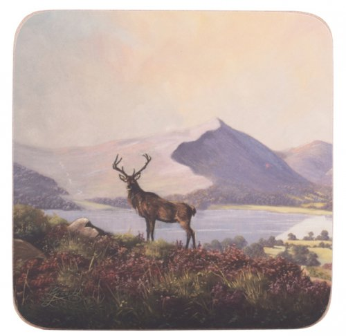 Creative Tops Premium Highland Stag Coasters (Set of 6)