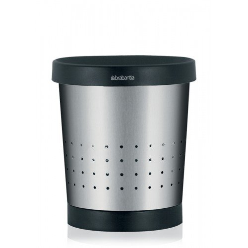 Brabantia Conical Waste Paper Bin 5L Matt Steel
