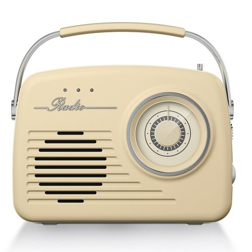 Akai AM/FM Retro Radio - Cream