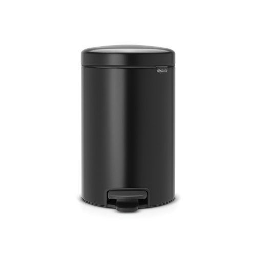 Brabantia Newicon 12 Litre Pedal Bin in Matt Black