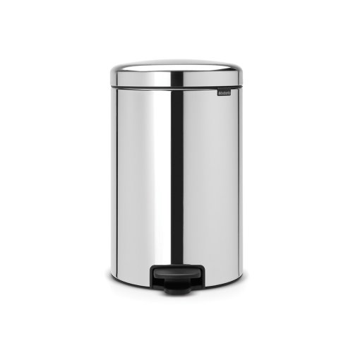 Brabantia Newicon 20 Litre Pedal Bin in Brilliant Steel