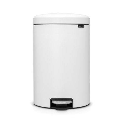 Brabantia Newicon 20 Litre Pedal Bin in Mineral Eternal White