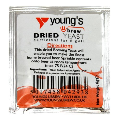 Young's Ubrew Dried Yeast Sachet 6g