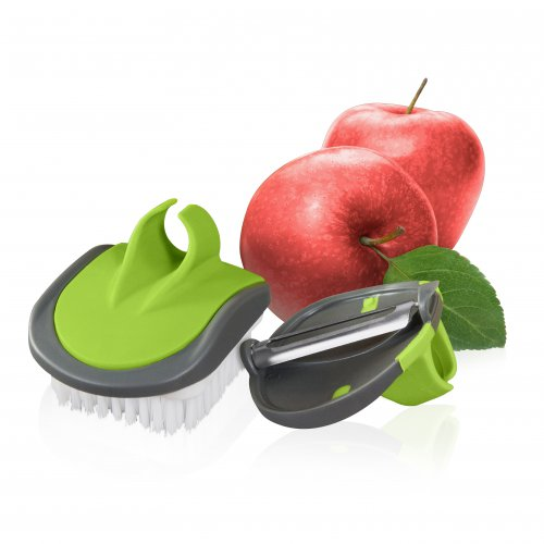 Tower Veggie Peeler and Brush Set