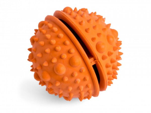 Seriously Strong by Petface Solid Rubber Rope Ball Dog Toy Small