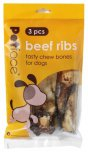 Petface Beef Ribs Pack Of 3