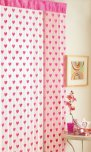 Country Club Hearts Door Curtain Pink 2090594
