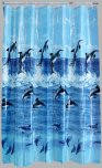 Aqualona PEVA Shower Curtain 180x180cm Dolphins