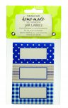 Home Made Self-Adhesive Jam Jar Labels Stitched Stripes (Pack of 30)