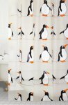 Blue Canyon PEVA Penguin Shower Curtain